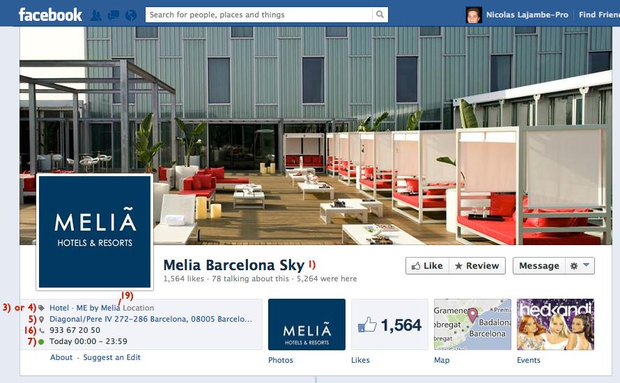Hotel Facebook page