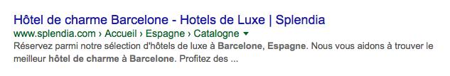 Organic presentation hotel Barcelona